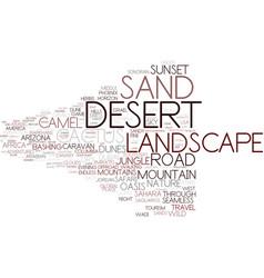 Desert word cloud concept vector