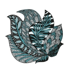Doodling hand drawn amazing feathers in tattoo vector image