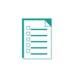 Dotted shape documents paperwork information vector