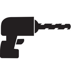 drill icon isolated on white background vector image