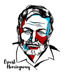Ernest hemingway vector