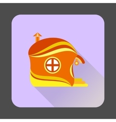Fairy-tale house icon flat style vector