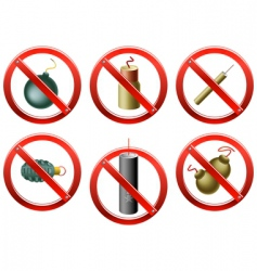 Firecrackers banned vector