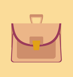 Flat icon on stylish background school bag case vector