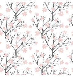 floral pattern in hand drawn style with vector image