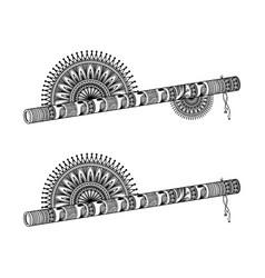 flute mandala vector image