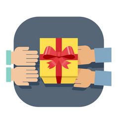 gift-giving vector image