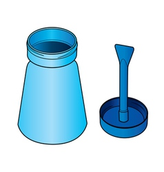 glue bottle with brush vector image