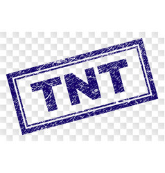 Grunge tnt rectangle stamp vector