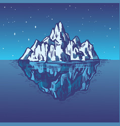 iceberg in ocean a large piece glacier vector image