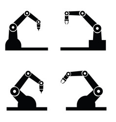 industry robot icons set vector image