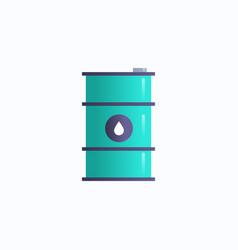 iron barrel with crude oil cylindrical steel metal vector image