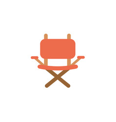 Isolated camping chair icon flat design vector