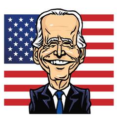 Joe biden president us united states vector