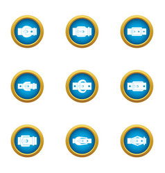 Keep the pants icons set flat style vector