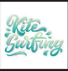 Kitesurfing lettering logo in graffiti style vector