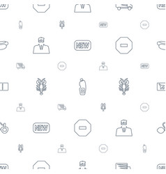 Label icons pattern seamless white background vector