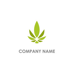Leaf marijuana cannabis eco logo vector