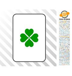 lucky clover card with bonus vector image