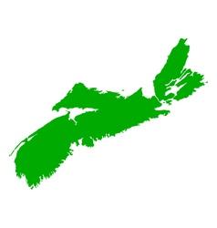 Map of Nova Scotia vector