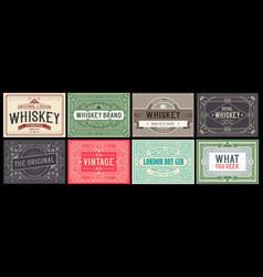 mega set 8 vintage labels layered vector image
