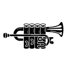 Metal trumpet icon simple style vector