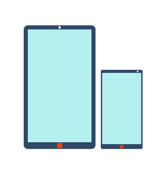 Mobile phone and tablet icon vector