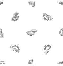 monitor chat pattern seamless vector image