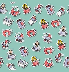motherhood icons pattern vector image