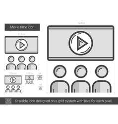 Movie time line icon vector image vector image
