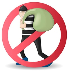 No and stop thief vector