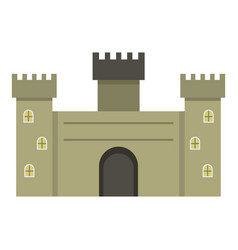 old fortress towers icon isolated vector image vector image