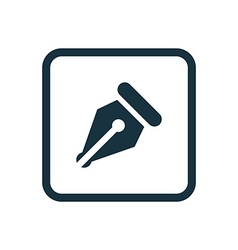 pen icon Rounded squares button vector image