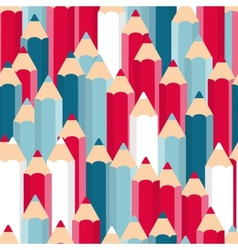 Pencils Seamless Pattern Background vector image