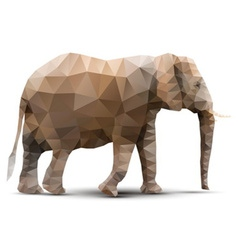 Polygonal elephant vector