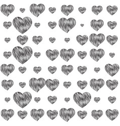 Sensuality background with hearts vector