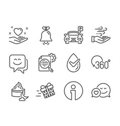 Set business icons such as full rotation wind vector