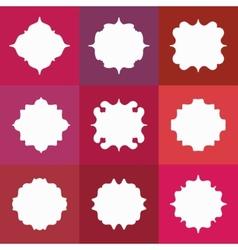 set elegant white badges or empty frames vector image