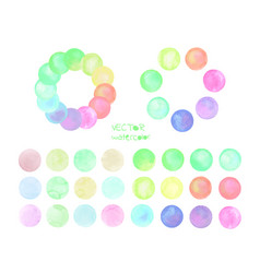 Set of pastel watercolor circles vector