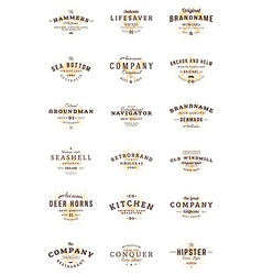 Set of vintage retro logotype templates Collection vector