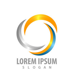 shiny swirl rotate logo concept design symbol vector image