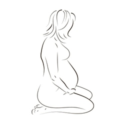 Sitting pregnant woman vector image vector image