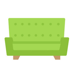 sofa flat icon furniture and interior vector image