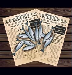 Sprat fishes realistic fresh fish 3d vector