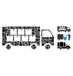 square goods transportation truck icon vector image