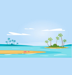 summer season background vector image