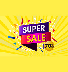 super sale abstract design vector image