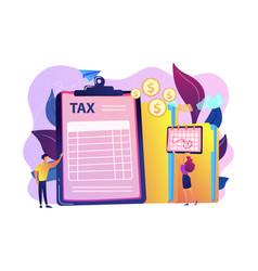 Tax form concept vector