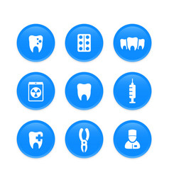 teeth dental care stomatology dentist icons vector image