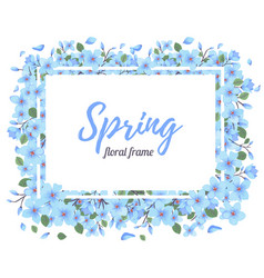 tender floral summer or spring frame template vector image